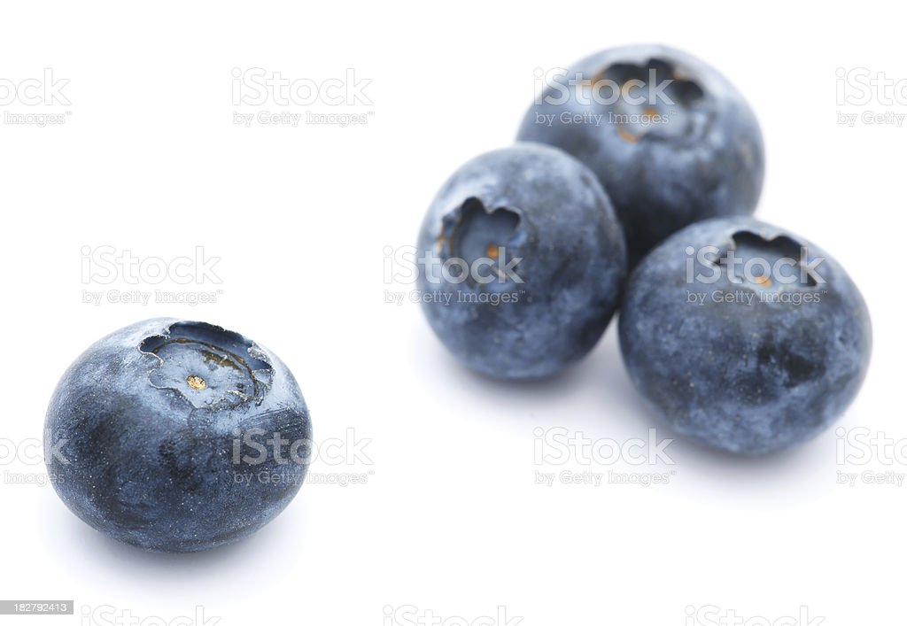 Blueberries isolated on white royalty-free stock photo