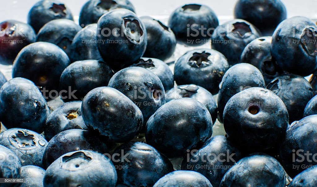 Blueberries with antioxidant. stock photo