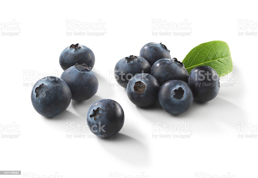 Blueberries with Leaf stock photo