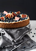 Blueberry and Fig Chocolate Cake