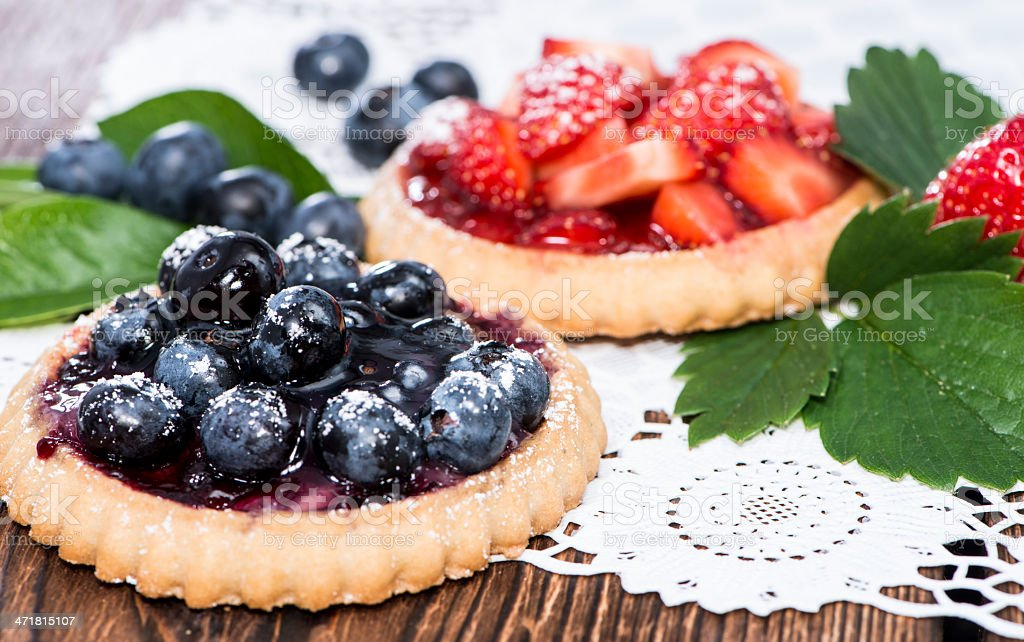 Blueberry and Strawberry Tart royalty-free stock photo