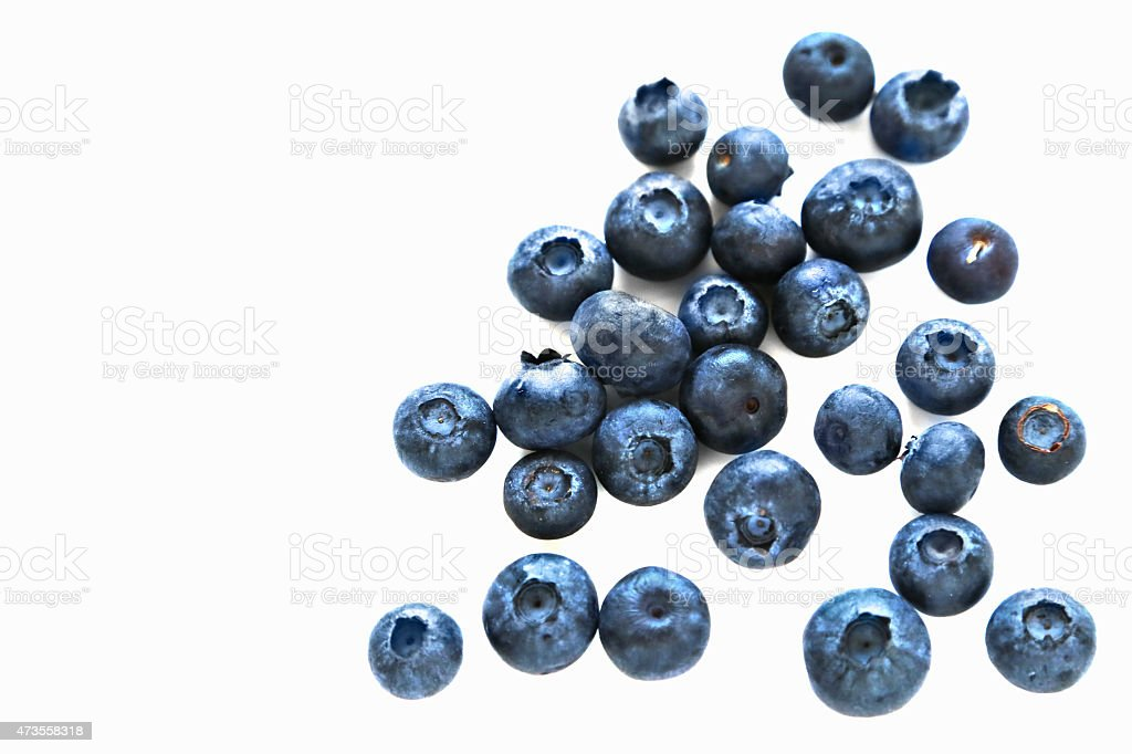 Blueberry antioxidant superfood isolated on white background stock photo