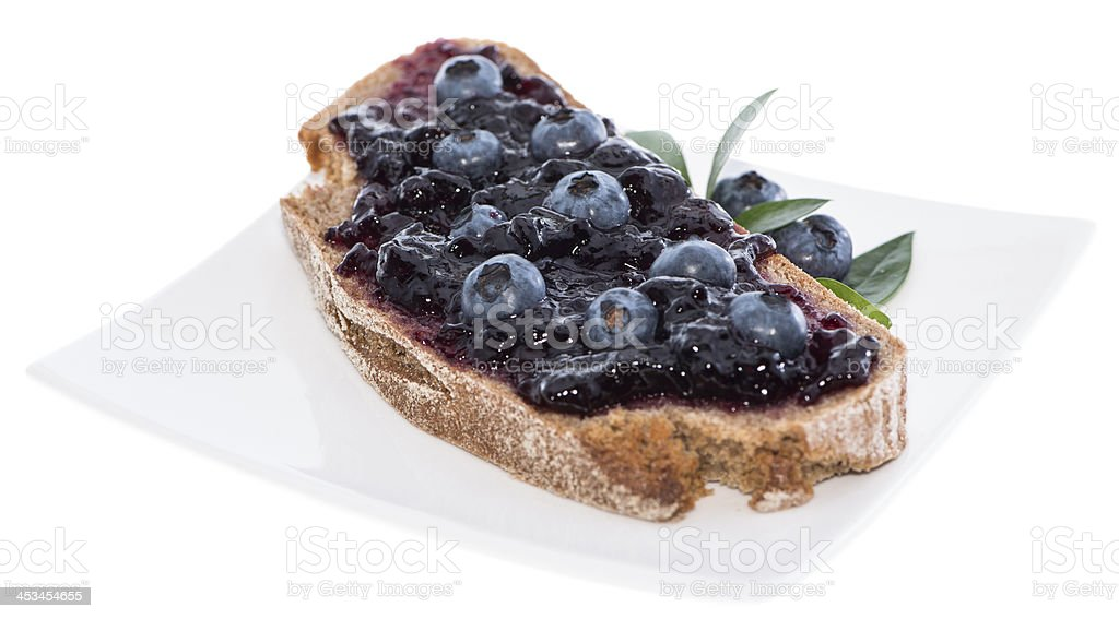 Blueberry Bread isolated on white royalty-free stock photo