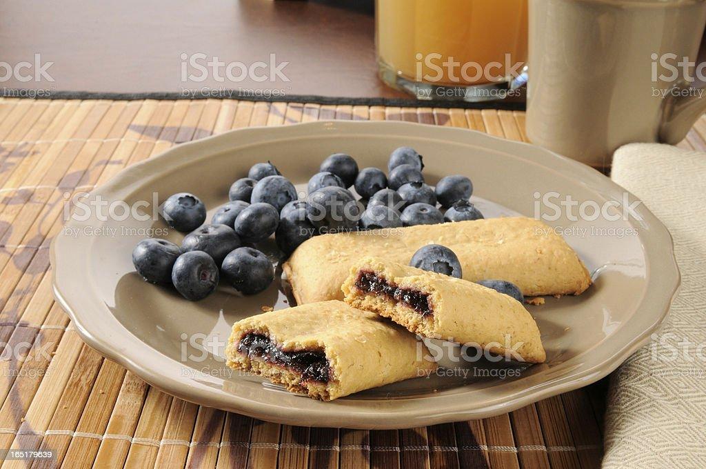 Blueberry breakfast bar royalty-free stock photo
