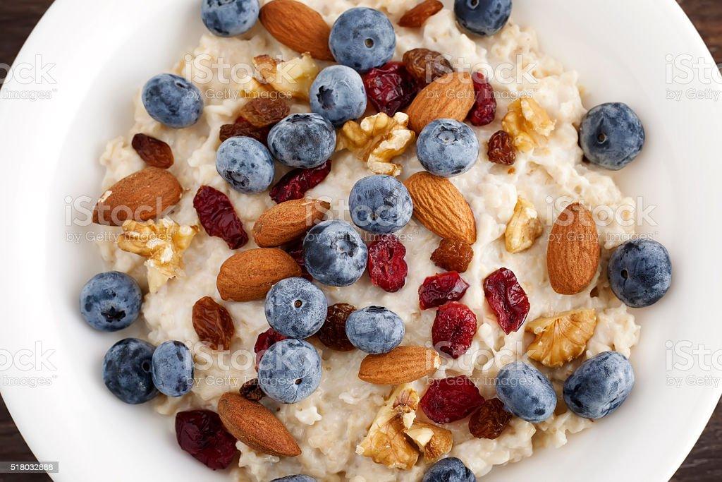 Blueberry breakfast royalty-free stock photo
