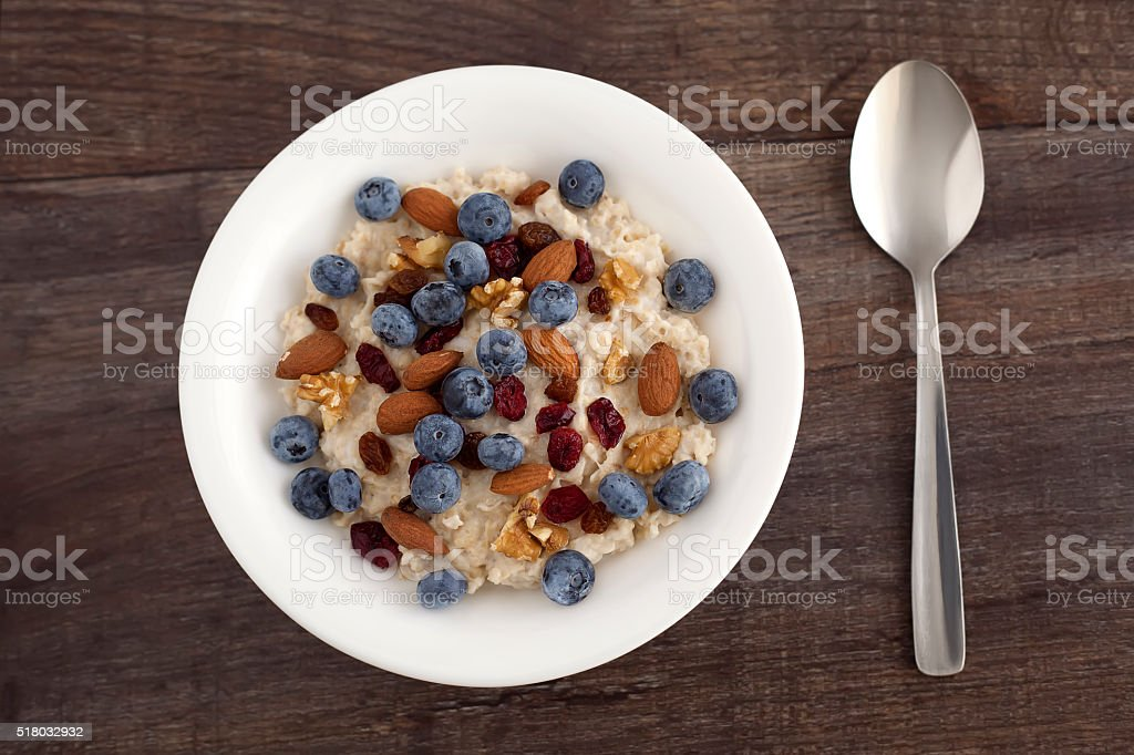 Blueberry breakfast royalty-free stock photo