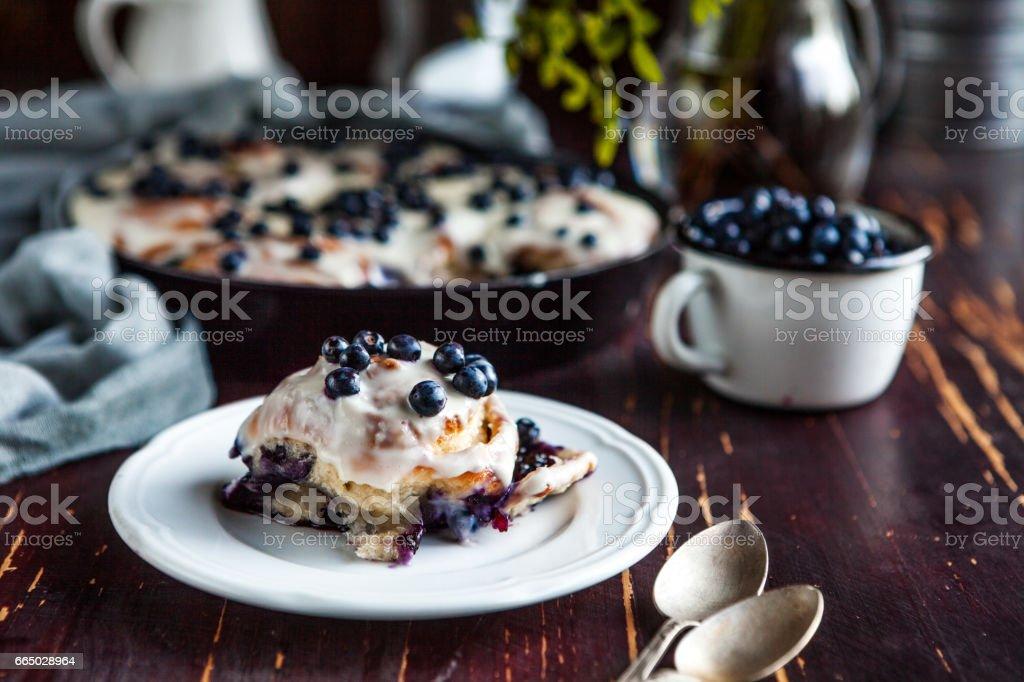 blueberry Bun stock photo