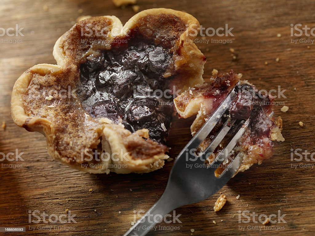 Blueberry Butter Tart royalty-free stock photo