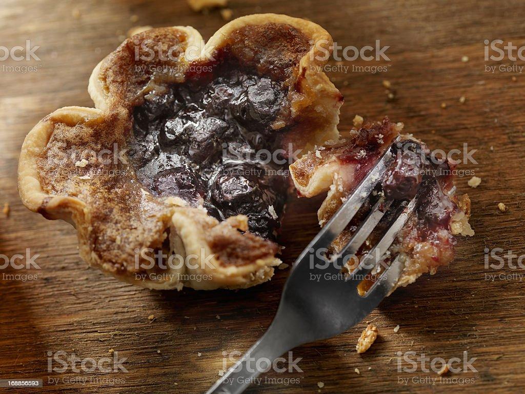 Blueberry Butter Tart stock photo