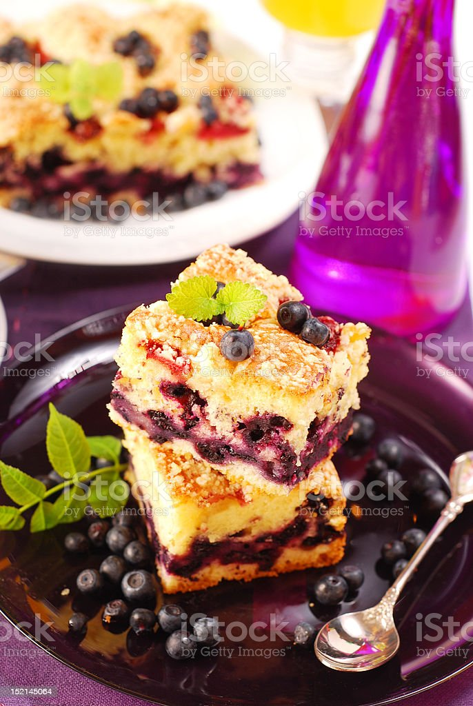 blueberry cake royalty-free stock photo