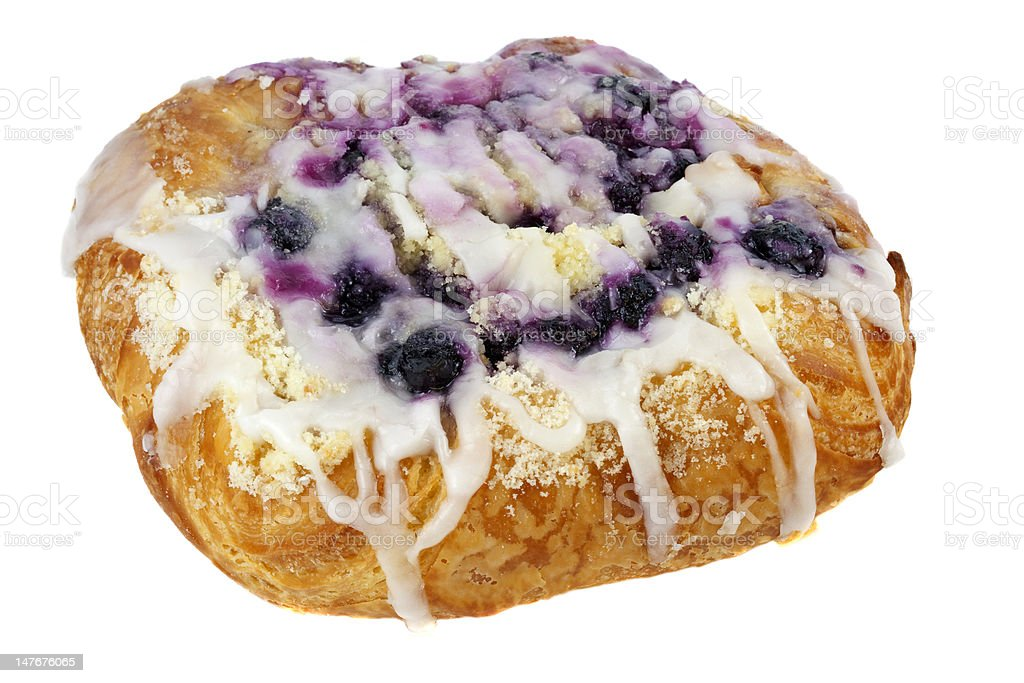 blueberry cheese danish pastry royalty-free stock photo