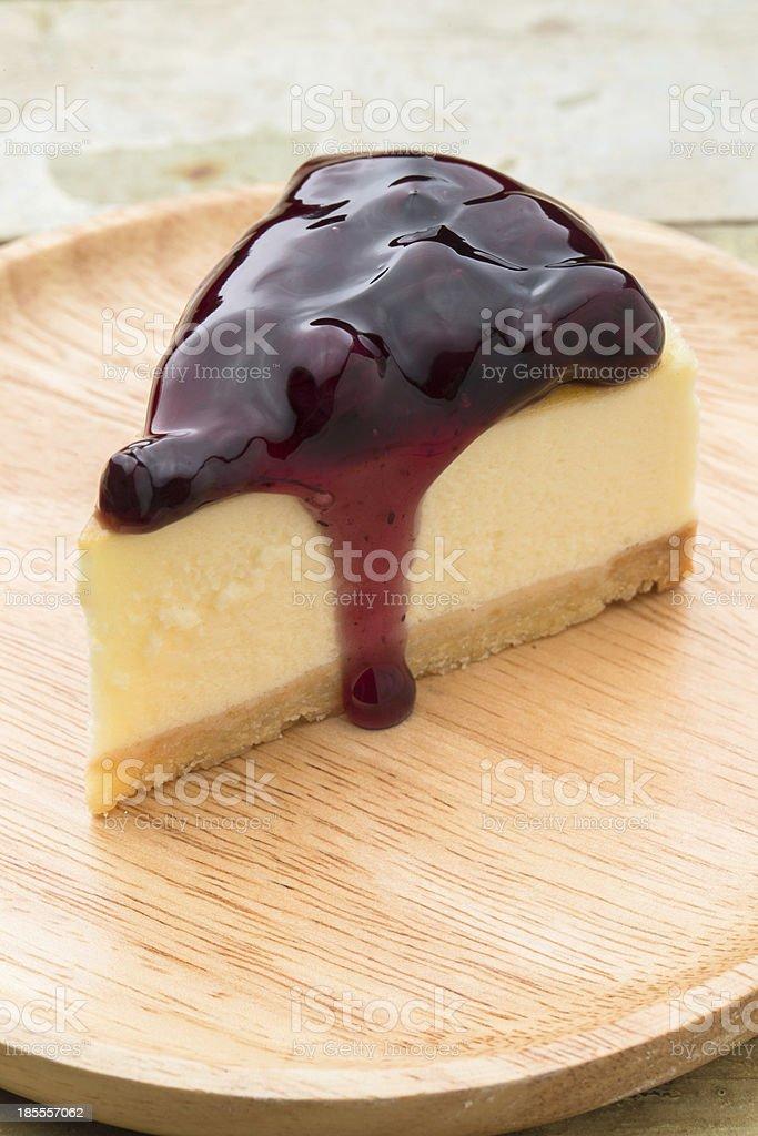 Blueberry Cheese Pie royalty-free stock photo