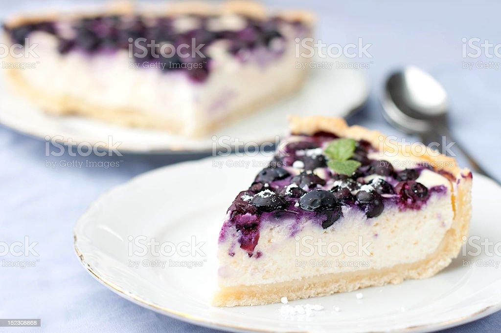 blueberry cheesecake royalty-free stock photo
