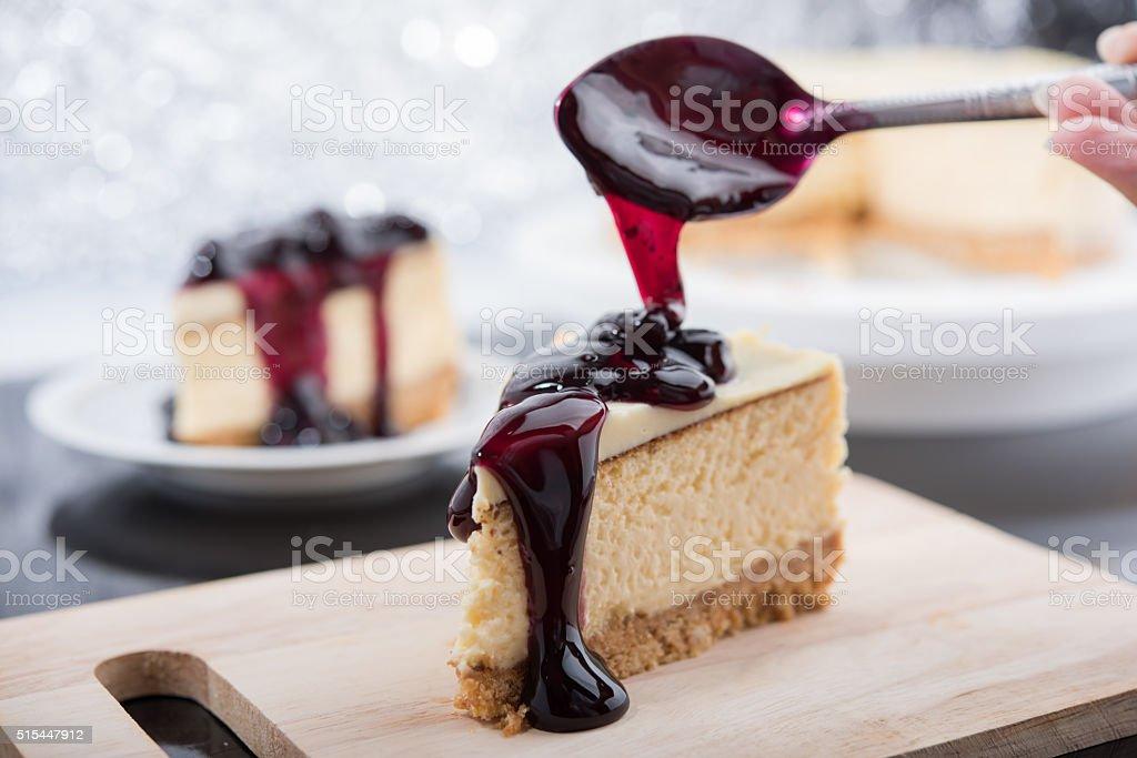 Blueberry Cheesecake stock photo