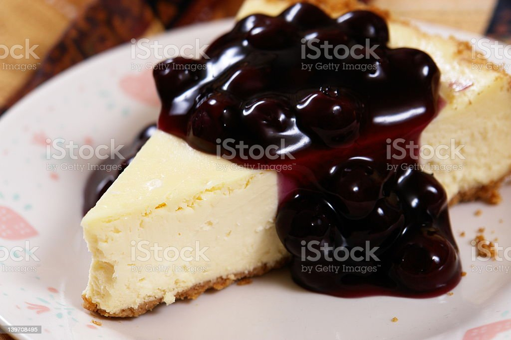 Blueberry Cheesecake Slice royalty-free stock photo
