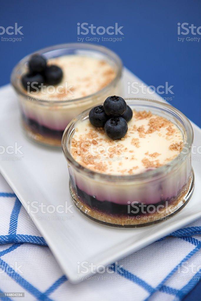 Blueberry cheesecakes royalty-free stock photo