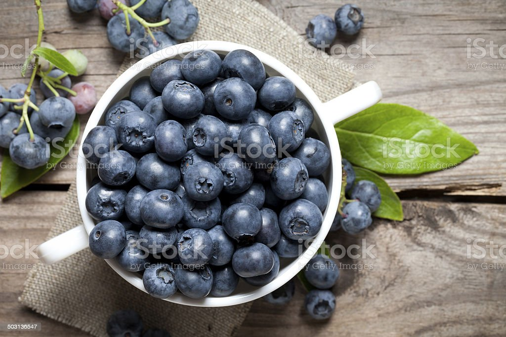 Blueberry close up stock photo