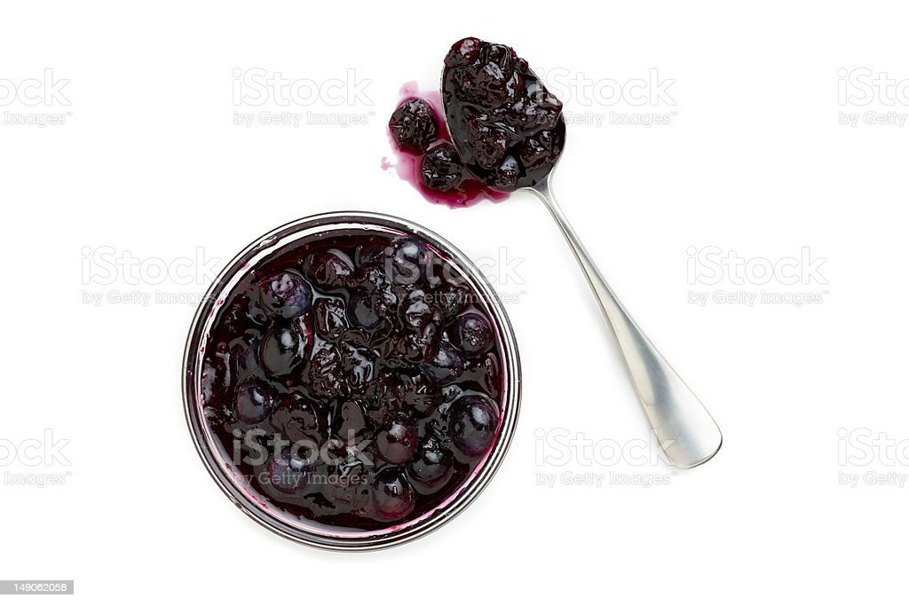 Blueberry Compote stock photo