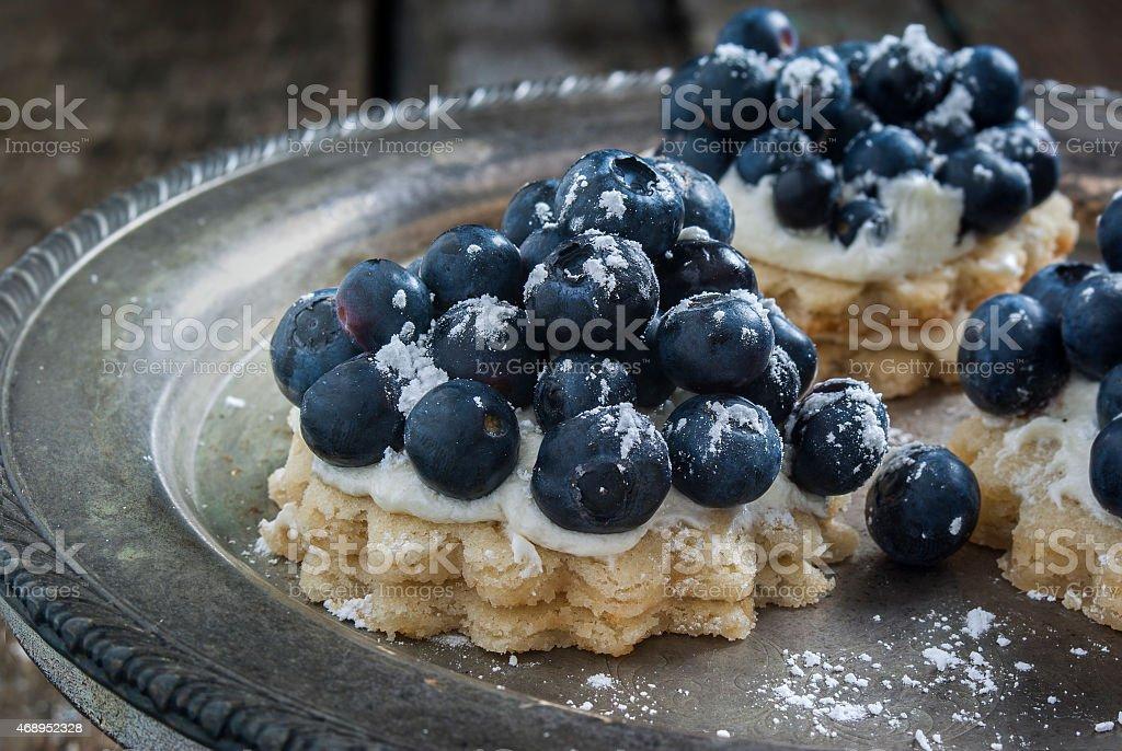 blueberry dessert stock photo