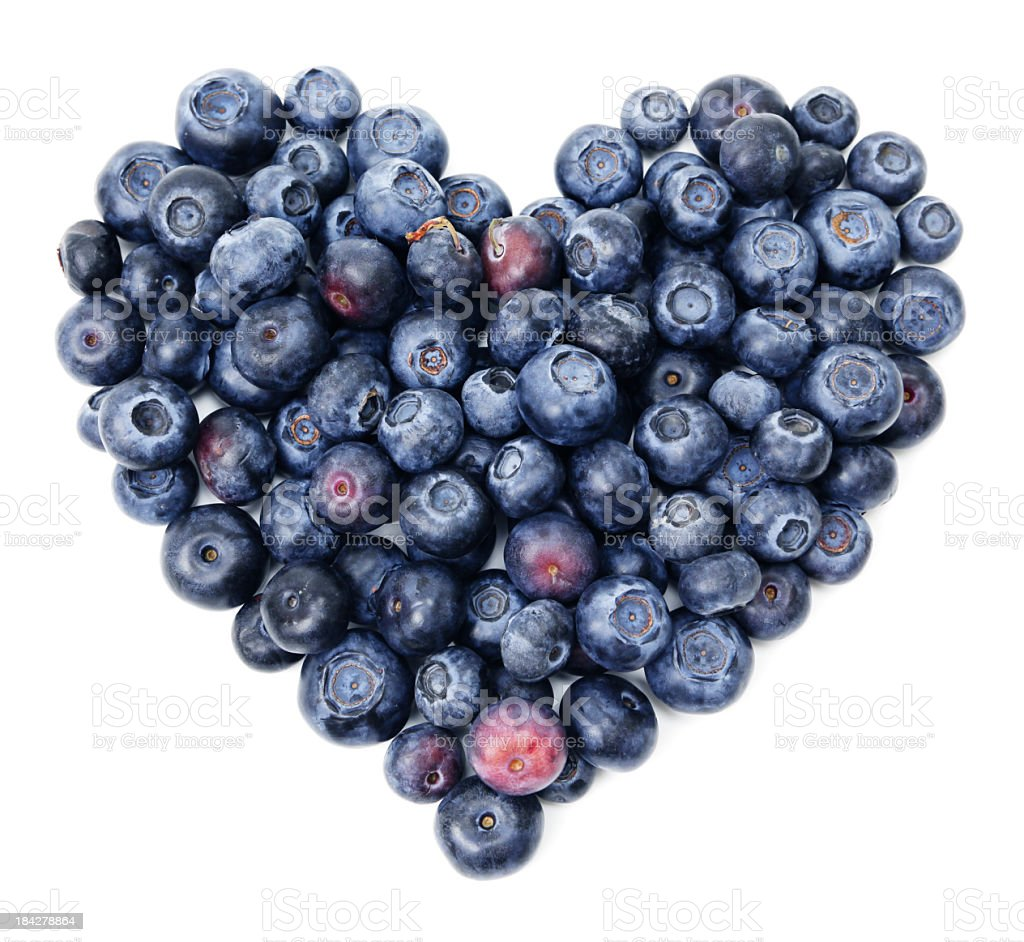 Blueberry heart stock photo