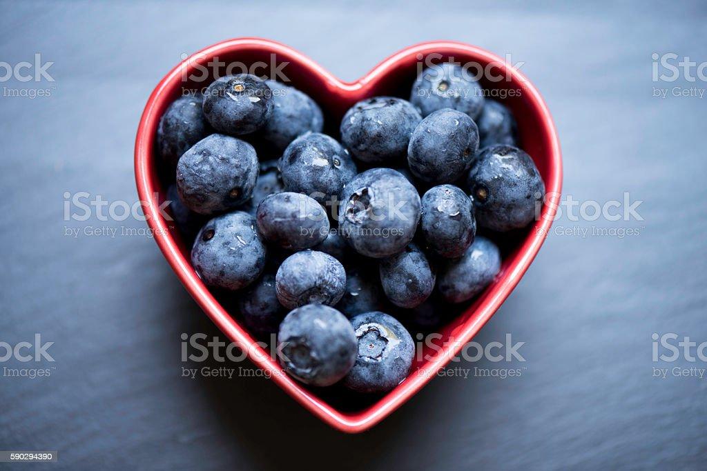 Blueberry Heart stock photo