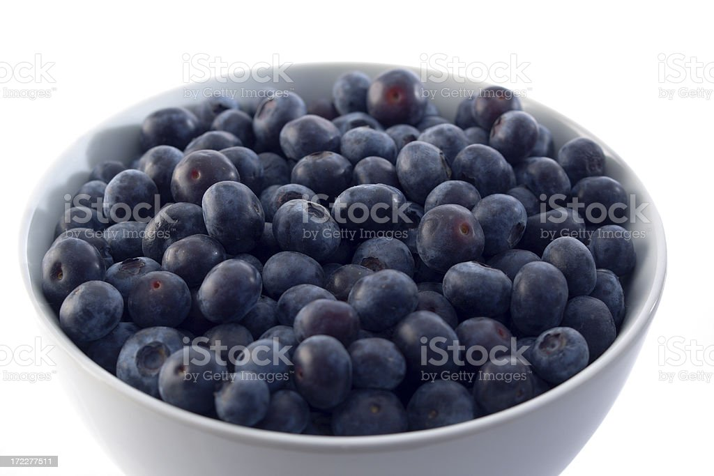 Blueberry in White Bowl royalty-free stock photo