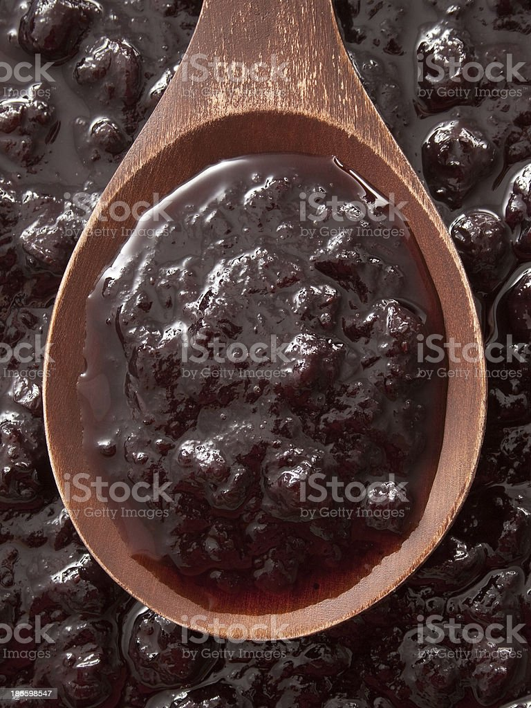 Blueberry jam royalty-free stock photo