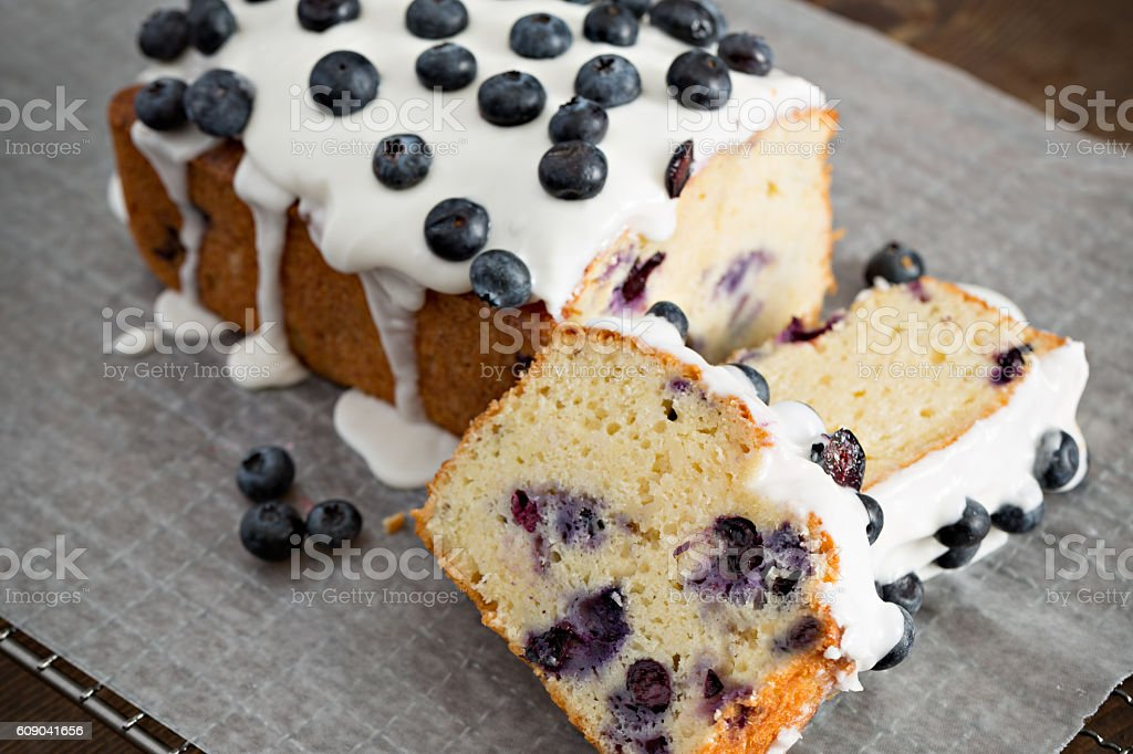 Blueberry Loaf Slices stock photo