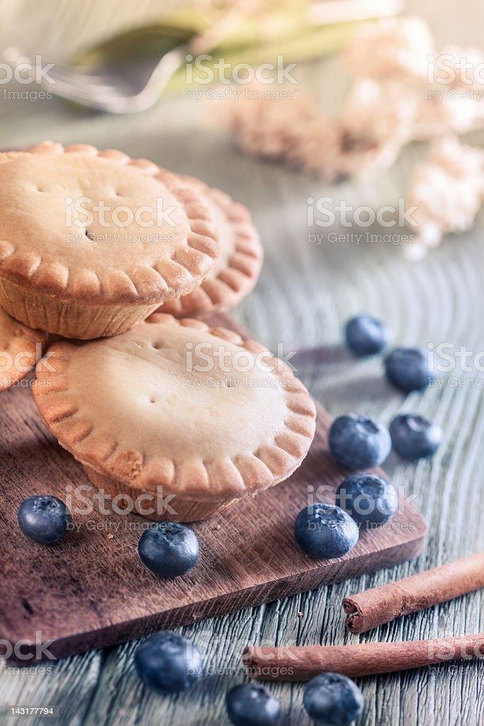 Blueberry mini pies royalty-free stock photo