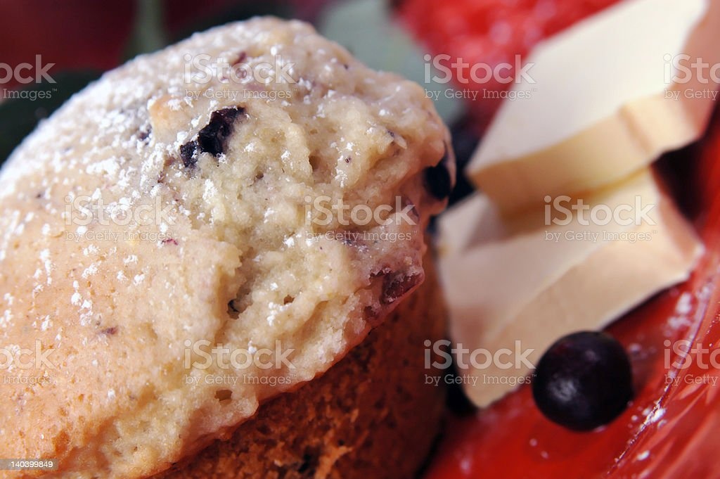 Blueberry muffin for breafkast royalty-free stock photo