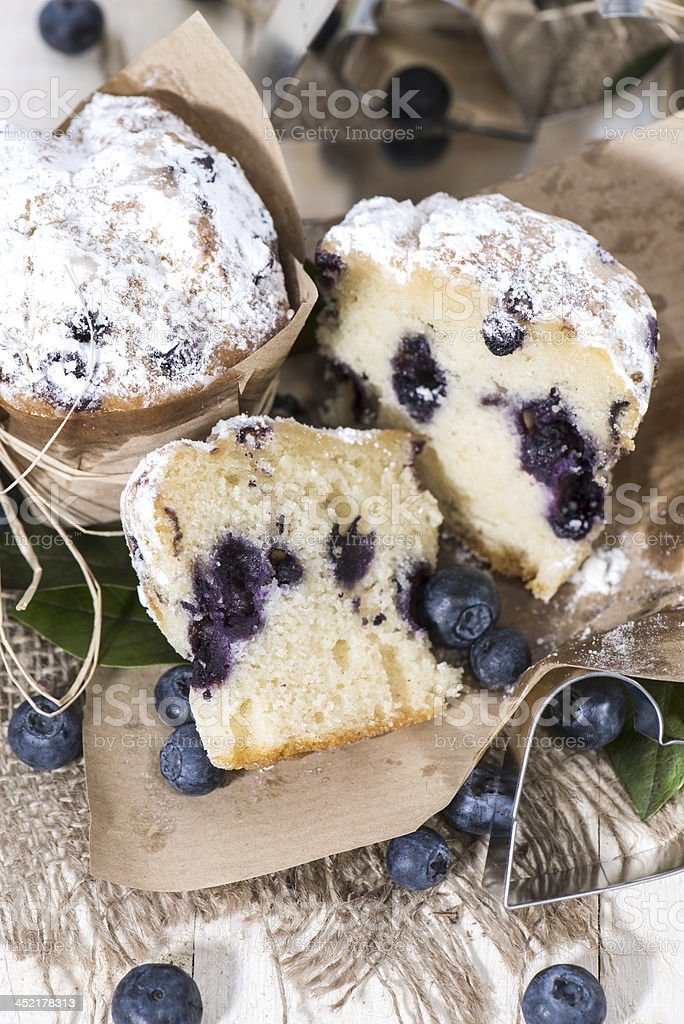 Blueberry Muffin (Macro Shot) royalty-free stock photo