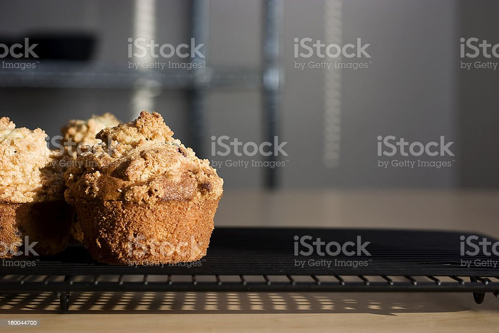 Blueberry Muffins with Crumbly Tops stock photo