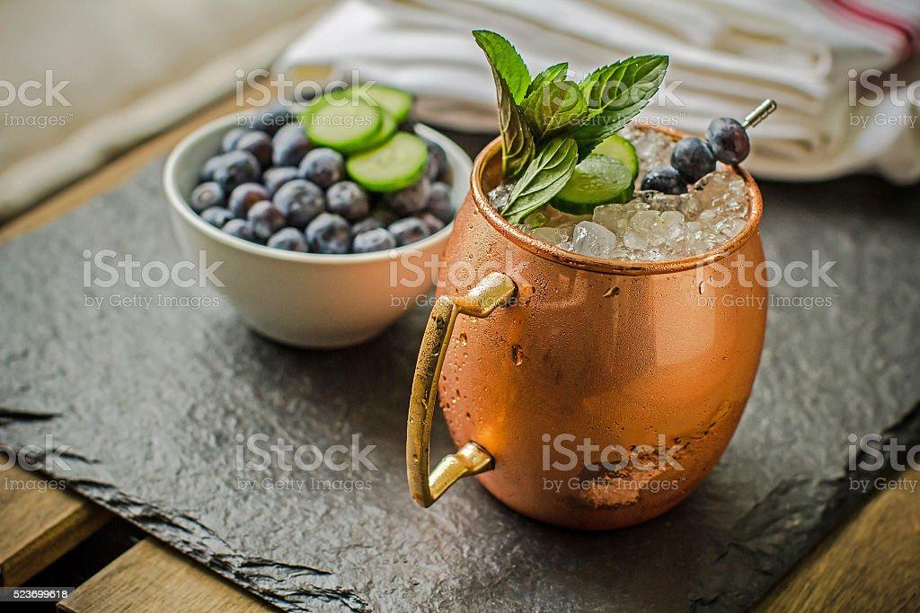 Blueberry Mule stock photo