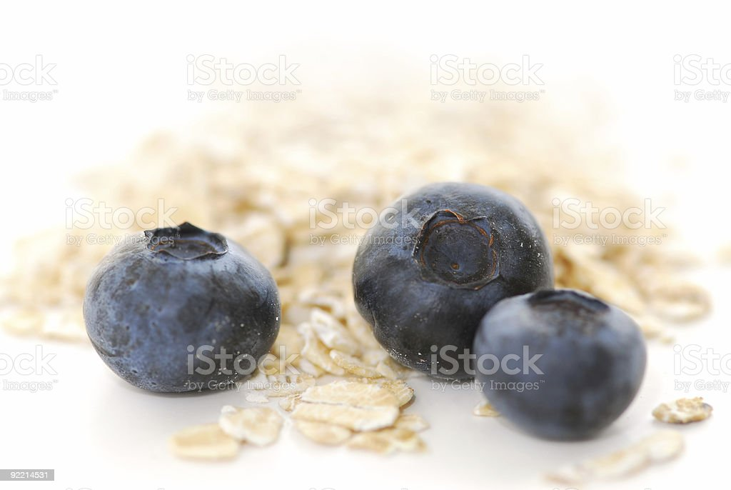 Blueberry oats royalty-free stock photo