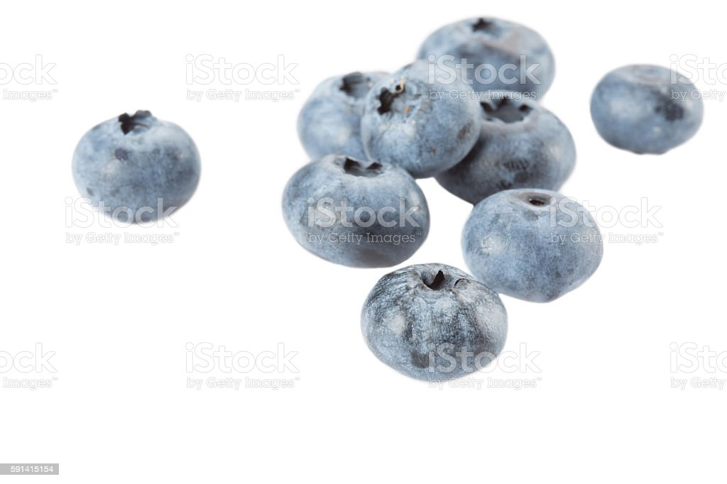Blueberry on a white background. Isolated stock photo
