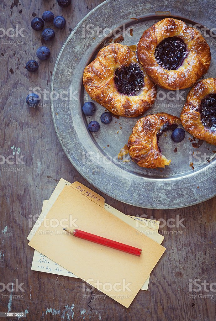 blueberry pastries royalty-free stock photo