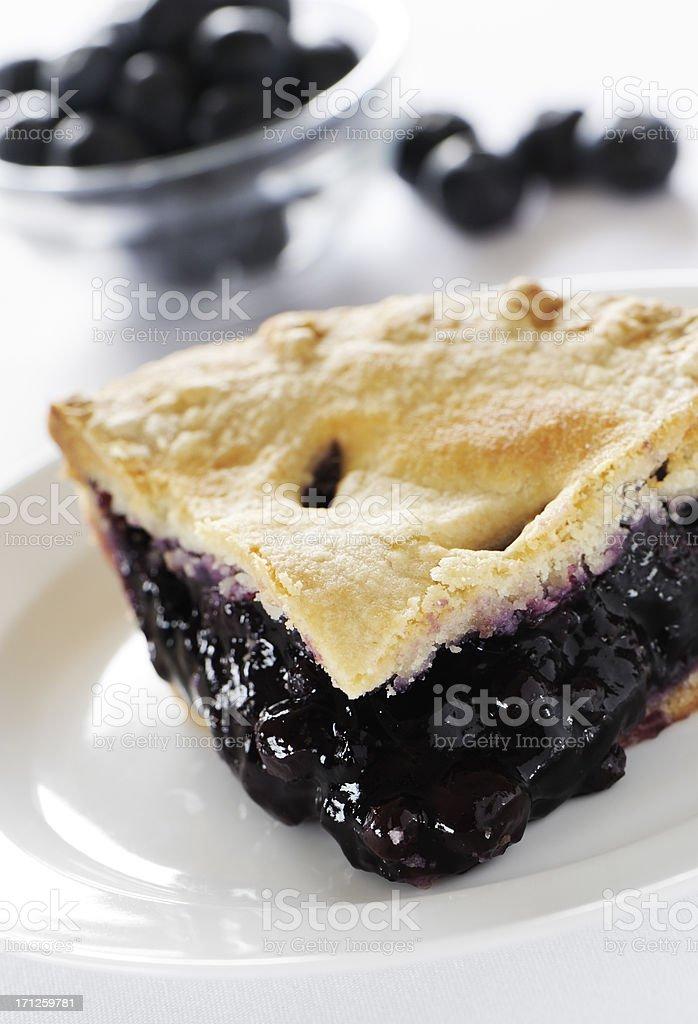 Blueberry pie stock photo