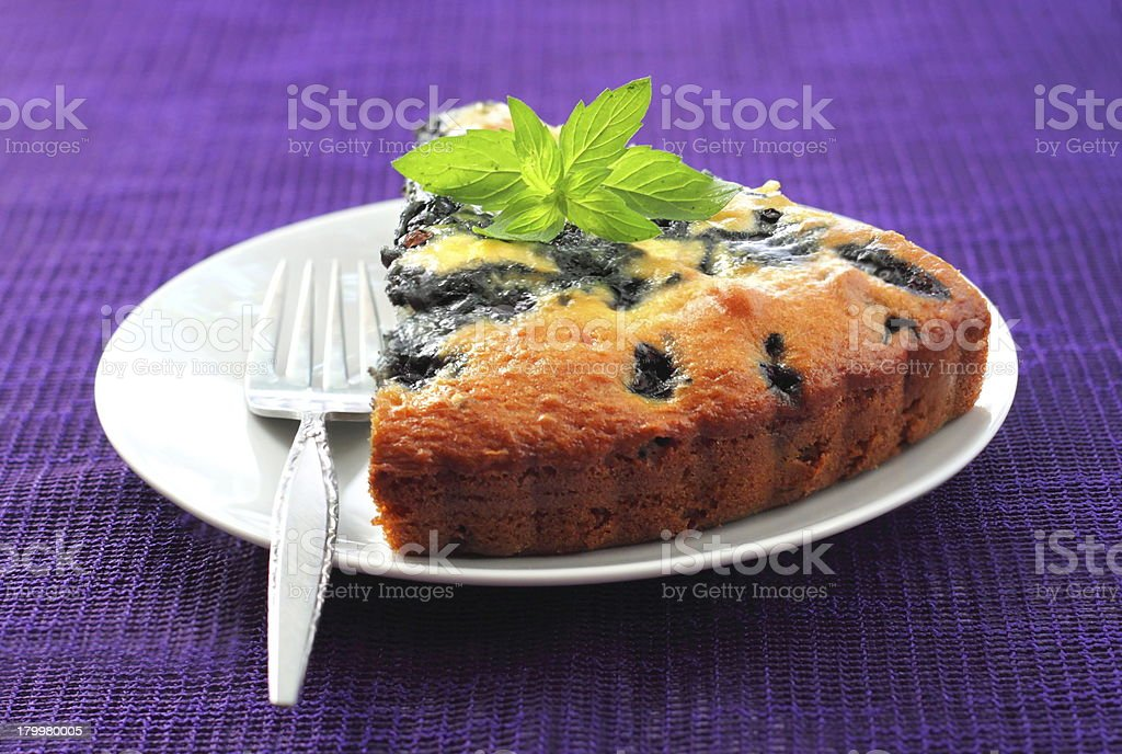 Blueberry pie royalty-free stock photo