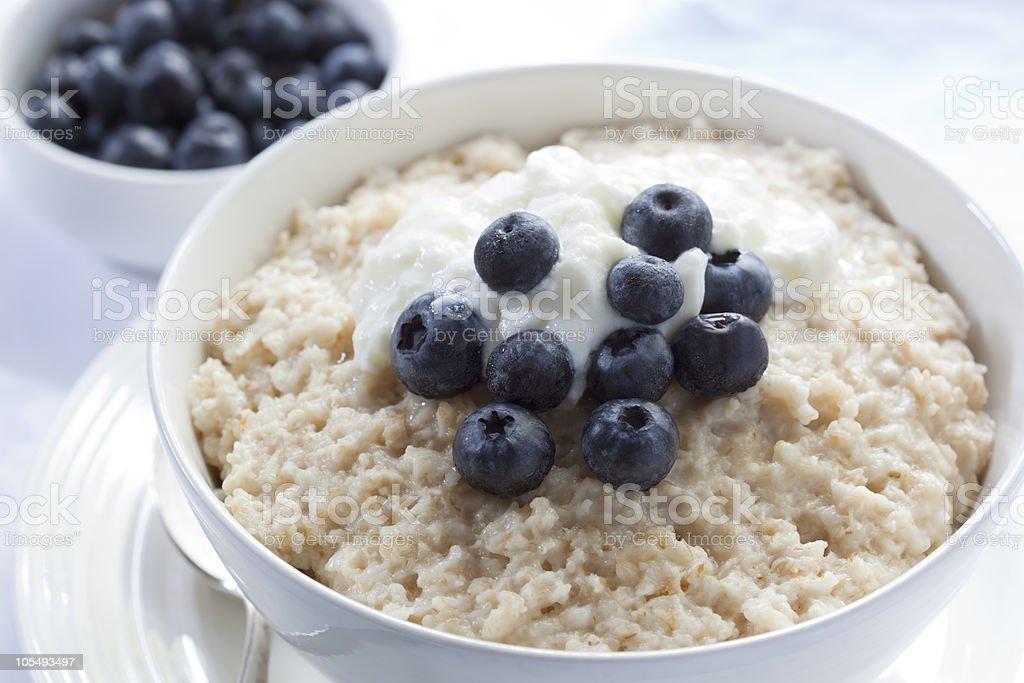 Blueberry Porridge stock photo
