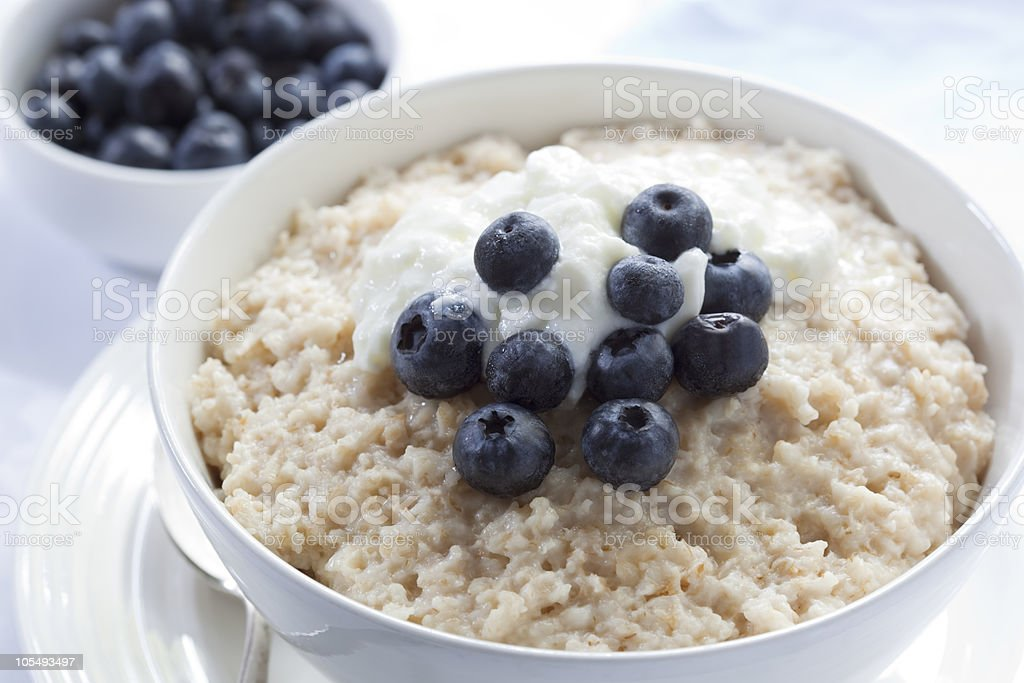 Blueberry Porridge stock photo