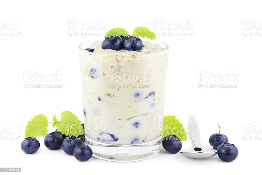 Blueberry pudding stock photo