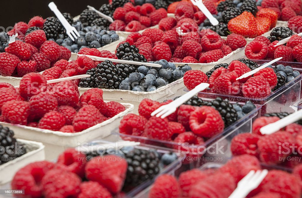 Blueberry, raspberry and blackberry royalty-free stock photo