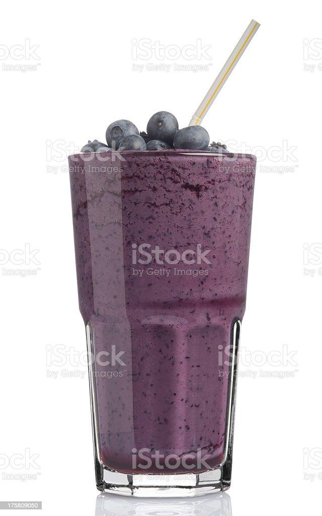 Blueberry Shake Smoothie stock photo