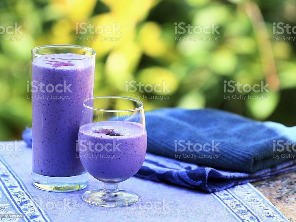 Blueberry Smoothie Outside-2 stock photo