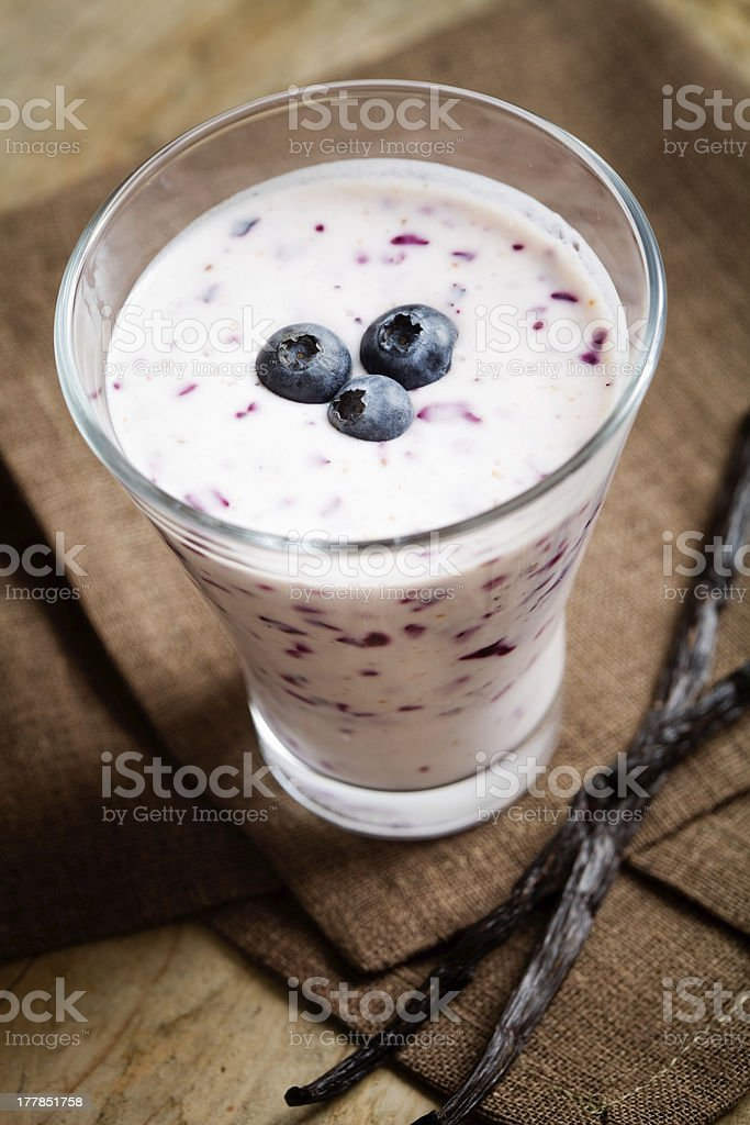 Blueberry smoothie royalty-free stock photo