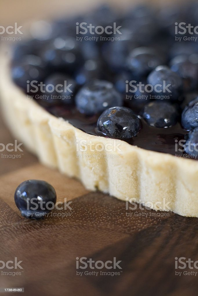 Blueberry tart royalty-free stock photo