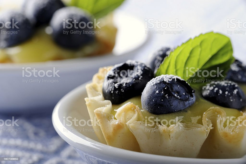 Blueberry Tartlets royalty-free stock photo