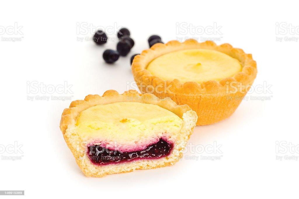 blueberry tarts royalty-free stock photo