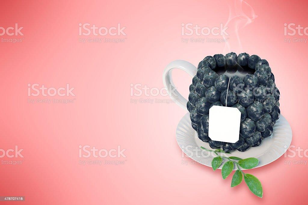Myrtille tasse à thé photo libre de droits