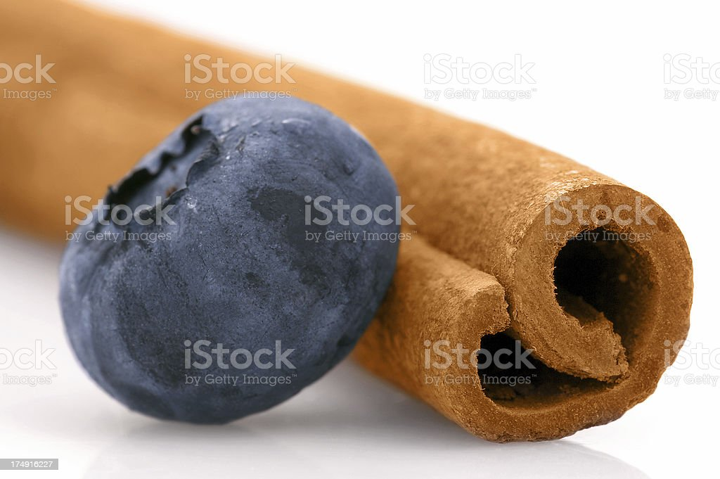 Blueberry with Cinnamon Stick royalty-free stock photo